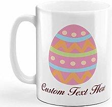 Custom Ceramic Coffee Mug 11 Ounces Pink Colorful