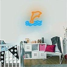 Custom Dolphin Shape LED Neon Light Signs,Art