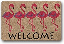 Custom Doormat Welcome Flamingo Door Mat Floor Mat