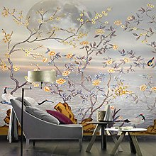 Custom Hand-Painted Large Murals Tv Backdrop Bird