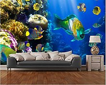 Custom Live Fish Wallpaper Coral Colony and Coral
