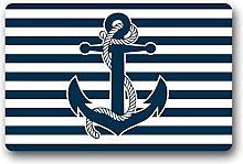 Custom Machine Washable Retro Nautical Anchor