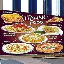 Custom Mural Wallpaper 3D Food Lasagne Spaghetti
