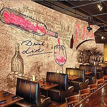 Custom Mural Wallpaper 3D Retro Wine Winery Wine