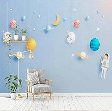 Custom Mural Wallpaper 3D Space Universe Children