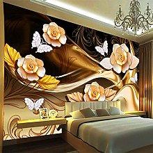 Custom Mural Wallpaper 3D Stereo Jewelry Flower