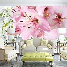 Custom Mural Wallpaper Modern 3D Lily Flower