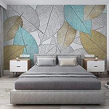Custom Mural Wallpaper Modern Simple Leaf Vein