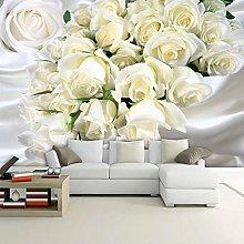 Custom Mural Wallpaper Romantic Rose Flowers