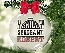 Custom Ornaments Grill Sergeant, BBQ, Barbeque,
