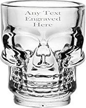 [Custom] Personalised Engraved Skull Shot Glass