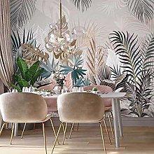 Custom Photo 3D Tropical Plant Palm Leaf Mural
