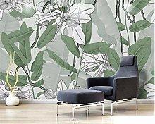 Custom Photo 3D Wallpaper Mural Tropical Leaf