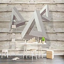 Custom Photo Wall Mural 3D Solid Triangle Wood 3D