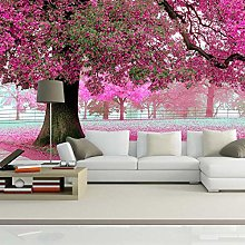 Custom Photo Wall Paper 3D Romantic Cherry Tree Tv