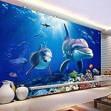 Custom Photo Wallpaper 3D Dolphin Underwater World