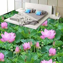 Custom Photo Wallpaper 3D Lotus Leaf Pond Flower