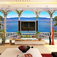 Custom Photo Wallpaper 3D Stereoscopic Window Sea