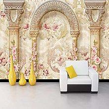 Custom Photo Wallpaper European Luxurious Flower