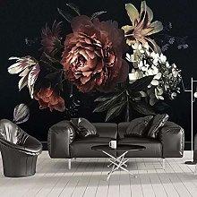 Custom Photo Wallpaper for Walls 3D Black Peony