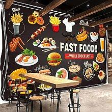 Custom Photo Wallpaper for Walls 3D Fast Food