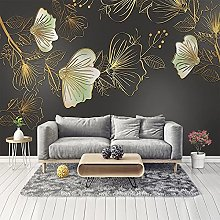 Custom Photo Wallpaper for Walls 3D Golden