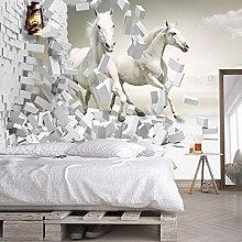 Custom Photo Wallpaper for Walls 3D White Horse