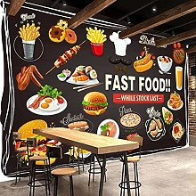 Custom Photo Wallpaper for Walls Roll 3D Fast Food