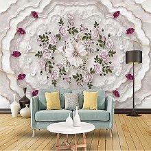 Custom Photo Wallpaper Marble Relief Pattern