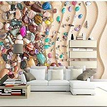 Custom Photo Wallpaper Modern Beach Shell Stone 3D