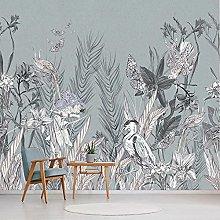Custom Photo Wallpaper Modern Retro Tropical