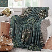 Custom Sofa Bed Throw Blanket,Bamboo,Authentic