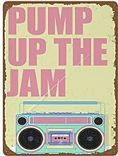 Custom Song Title Print with Retro Boombox 80s 90s