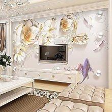 Custom Wall Cloth Modern Fashion Tulip Flowers