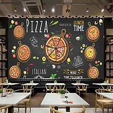 Custom Wall Mural Pizza Shop Hand Painted Pizza 3D