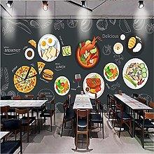 Custom Wall Mural Wallpaper 3D Burgers Western