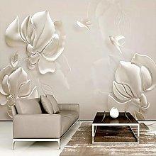 Custom Wall Mural Wallpaper 3D Embossed Magnolia