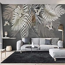 Custom Wall Painting 3D Hand Painted Plant Leaves