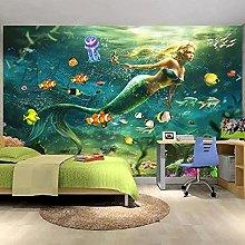 Custom Wallpaper 3D Cartoon Seabed Murals