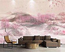 Custom Wallpaper 3D Chinese Peach Blossom Tv Sofa