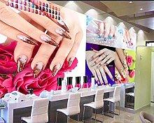 Custom Wallpaper 3D Mural Beauty Salon Nail Art