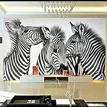 Custom Wallpaper 3D Mural Zebra Mural Living Room