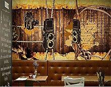 Custom Wallpaper 3D Retro Nostalgia Casual Cafe