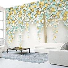 Custom Wallpaper 3D Stereo Circle Green Tree