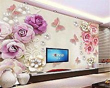 Custom Wallpaper European Jewelery Butterfly Love