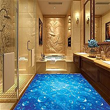 Custom Wallpaper for Bathroom Blue Wave Water