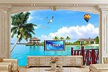 Custom Wallpaper for Wall 3D Sea View Coconut Tree
