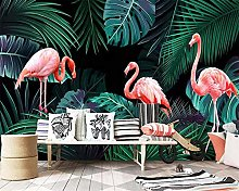 Custom Wallpaper Hand Drawn Tropical Rainforest