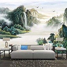 Custom Wallpaper Modern Chinese Style Ink Mountain
