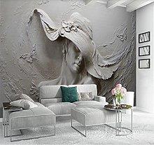 Custom Wallpaper Photo Wall 3D Relief Beauty